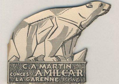1 1900 ''Ours Martin'' (Blanc) Dessiné, créé en 1927 par Géo Ham pour mon père ''C.A. Martin''_