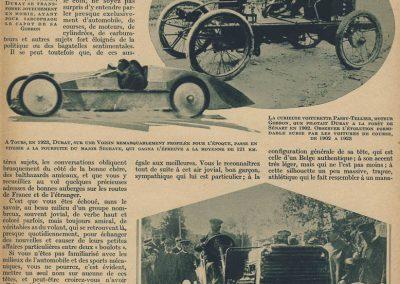 1 1903 22 06 Les ''AS'' du volant, A. Duray, 1906 1er Circuit des Ardennes, 510 km. En 1923 à Tours, il poursuit Segrave avec une Voisin superprofilée. 1