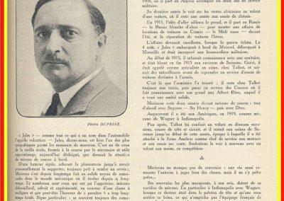 1 1922 09 04 Historique, Palmarès de Jules Moriceau par le MCF, As des AS sur Sunbeam,Talbot et Amilcar, Antibes, Indianapolis. 1