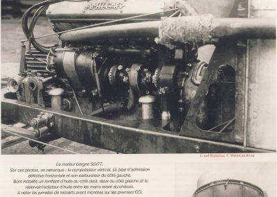 1 1925 18 10 Moteur ''Amilcar 6 cylindres groupe Borgne'' (sans culasse démontable) complet monté sur son châssis C.O. 2