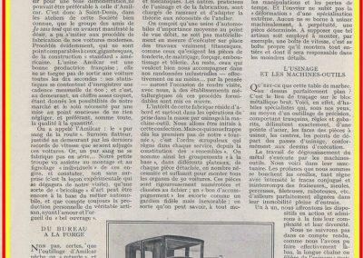 1 1926 10 08 Visite Usine Amilcar à St Denis (Paris). ''Le Pur sang de la route'', moteur ''Borgne'' au banc. 1