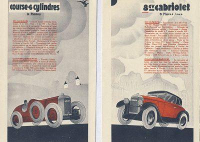 1 1926 17 10 Salon de l'Automobile pour la saison 1927, Descriptif du Course C.6. cylindres 1097cc, 56 x 74 (C.6.). 1