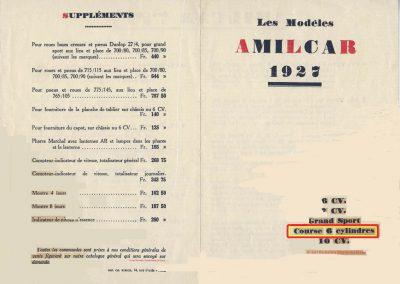 1 1926 17 10 Salon de l'Automobile pour la saison 1927, Descriptif du Course C.6. cylindres 1097cc, 56 x 74 (C.6.). 2