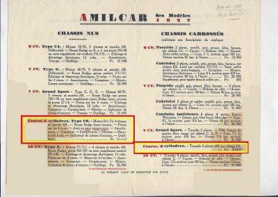 1 1926 17 10 Salon pour la saison 1927, Descriptif du Course-Torpédo 6 cylindres 1097cc, 56 x 74 (C.6.). 3