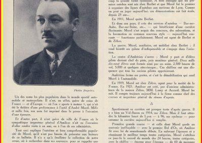 1 1926 André Morel, Plamarès et Historique succint selon la Revue du MCF. 1