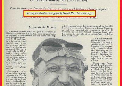 1 1927 17 03 GP des 1100cc à Montlhéry. 1er Duray sur Amilcar M.C.O. G.H., Divo sur Talbot 1500 bat le Record de Thomas et d'Eldrige à 233 km-h. 1