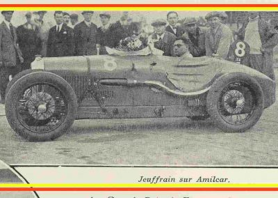 1 1928 07 10 GP de France MCF, 1er Robert Jeuffrain Amilcar C.6. Champion 1927 et 1928. ab Morel-(pneus) et Martin accidenté. 2