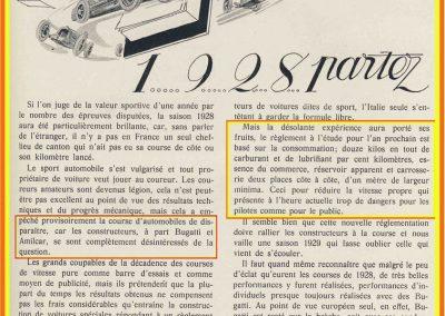 1 1929 04 10 Nlle réglementation, 12 kg de carburant-lubrifiant au 100 km, la largeur du poste de pilotage est élargi à 1 mètre... 1