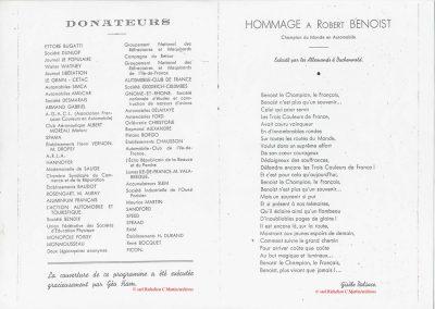 1 1945 27 09 Coupe de Paris. Hommage à Benoist par Gisèle Dalsace 1