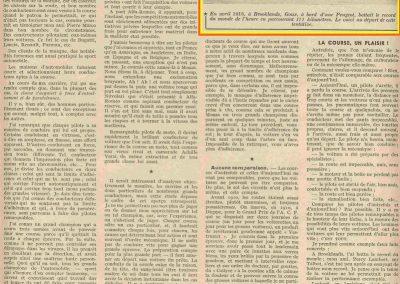 1913 -- 04 Record du Monde Goux Peugeot, 171 km. 1921 04 09 GP Italie 1er Goux, 2ème Chassagne Ballot 3000cc. 2