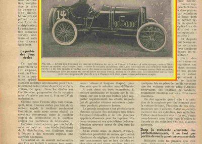 1913 12 07 GP de l'ACF, nouveau Circuit d'Amiens J.Goux 2ème sur Peugeot 5700cc n°14. Boillot 1er à 3 minutes sur 916,800 km. 1