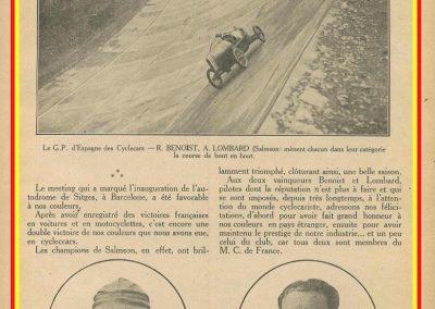 1923 20 10 GP d'Espagne des Cyclecars sur l'Autodrome de Sitgès (Barcelone) 1er Benoist Salmson et Lombard 1100. 1