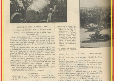 1923 20 10 GP d'Espagne des Cyclecars sur l'Autodrome de Sitgès (Barcelone) 1er Benoist Salmson et Lombard 1100cc. 1