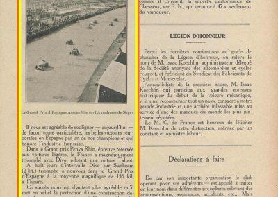 1923 20 10 GP de Penya Rhin sur l'Autodrome de Sitgès, 1er Divo Talbot 2000cc. le 28 10 GP d'Espagne 1er Divo sur Sunbeam 2000cc à 156 km-h. 2