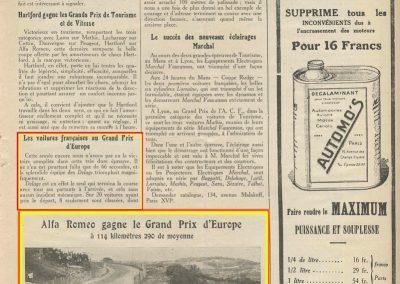 1924 03 08 GP ACF Tourisme, Morel sur Voisin 4ème, Duray Ariès 6ème. GP Vitesse 1er Campari ALFA, 2, 3 et 6ème, Divo, Benoist et Thomas sur Delage, 7et 8ème Chassagne et Frederich sur Bugatti. 11