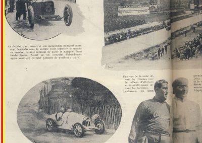 1924 03 08 le 2 ème GP d'Europe, 1er Campari ALFA, 2ème Divo Delage, 3ème Benoist, 6ème Thomas sur Delage, 7et 8ème Chassagne et Frederich sur Bugatti. 1