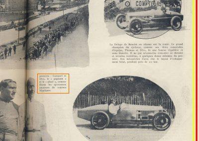 1924 03 08 le 2ème GP d'Europe, 1er Campari ALFA, 2ème Divo Delage, 3ème Benoist, 6ème Thomas sur Delage, 7et 8ème Chassagne et Frederich sur Bugatti. 2