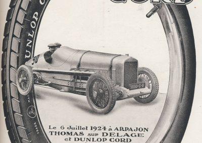 1924 06 07 Dunlop Delage Thomas Record à 230 km-h 528. _