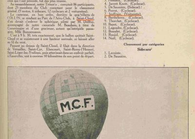 "1924 25 03 Rallye ""Ballon"" MCF. 3ème Jeuffrain Amilca C.G.S. 1"