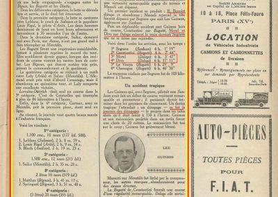 1924 27 09 GP de Tourisme de Saint-Sébastien. ab. Benoit, Morel 3ème, Divo 4ème sur Delage. 1