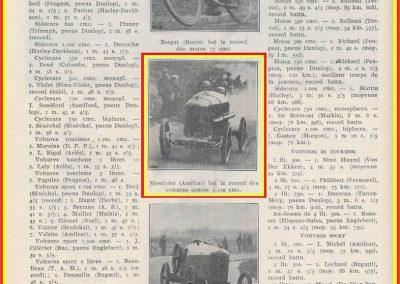 1925 01 04 Les Plâtrières 4 km, (près de Marseille), Amilcar Morel 2'27'' à 97,826 km-h. R.B. Argenteuil 1er Marius Mestivier 1'28''3-5 R.B.. 1