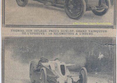 1925 -- 01 Records. Amilcar Marius Mestivier Cat. 1100cc à 82,191 km-h. Bugatti Cat. 1500cc seulement 68,702 km-h !. Thomas-Delage et Colas sur DFP. 3