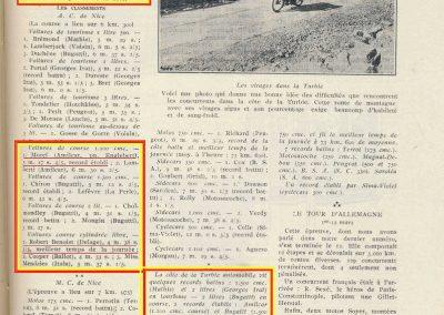 1925 03 15 Qinzaine Sportive La Turbie Morel Benoist Delage 4000cc, Richard Peugeot 750 2