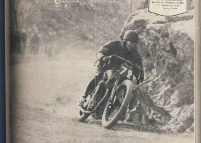 1925 15 03 Qinzaine Sportive, Richard à l'assaut du Col de la Turbie sur Moto Peugeot 750cc en 6'29'' à l'assaut du Col, R.B.T.C.. Sur 6,300 km Amilcar 1er Morel 1100cc, 5'17'' R.B. 1