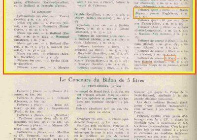 1925 16 05 Côte de Limonest, Lyon. Amilcar 1100cc, 1er Morel, en + de 8000cc Benoist en 1'50''4-5 et Martin-Bignan Sport en 2'40''3-5. 3