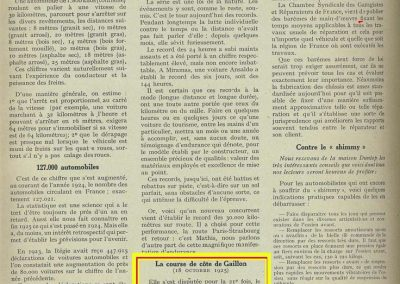 1925 18 10 Gaillon 1er Amilcar 1100 Morel, Thomas Delage. Péan moto Peugeot,_