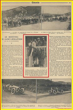 1925 19 09 GP St Sébastien Espagne Divo-Morel Benoist Thomas DC Torchy 1