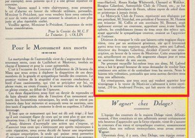1925 21 07 GP d'Endurance du Mans (le 3e), DC de l'estimé Marius Mestivier (Amilcar). Composition de l'Equipe Delage, Thomas._
