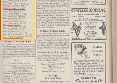 1925 26 04 les Alpilles, Amilcar 1100, 1er Morel 3'6'' devant Chiron 3'11'' Bugatti 1500. Charles Martin Bignan 3'19''. Divo 2'40'' Delage +5000cc.1