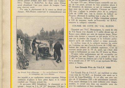 1925 28 06 G.P. d'Europe, Circuit de Spa-Francorchamps. Belgique. Sur ALFA-Roméo P2, 8 2000cc, 1er Ascari, 2ème Campari. ab. des 3 Delage. 3