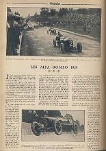 1925 28 06 G.P. d'Europe, Circuit de Spa-Francorchamps. Belgique. Sur ALFA-Roméo P2, 8 2000cc, 1er Ascari, 2ème Campari. ab. des 3 Delage. 4