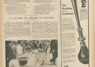 1925 29-30 08 Meeting Boulogne-sur-Mer Coupe G. Boillot, 1er Lagache Chenard, 8ème Duray Excelsior. 1