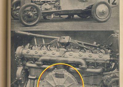 1925 30 05 GP Indianapolis, 1er Pièrre de Paolo, 8 cyl. de F. et A. Duesenberg, 2000cc, (Turbine d'avion, Moss, Général Electrique). 1