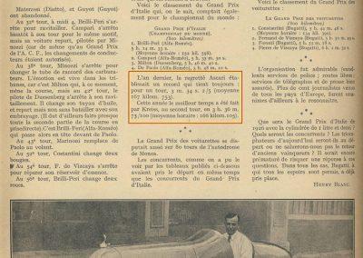 1925 30 06 GP Indianapolis, 1er Pièrre de Paolo, 8 cyl. de F. et A. Duesenberg, 2000cc, (Turbine d'avion, Moss, Général Electrique). 2