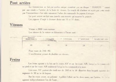 1926 02 03 Notice d'homologuation d'un Amilcar C.O. de course d'Usine, groupe borgne 1094cc, 55 x 77mm, qui n'a jamais été vendu au publique 2