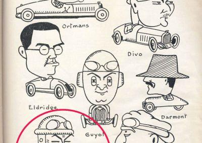 1926 05 06 Les AS du volant, Ortmans, Divo, Eldrige, Guyot, Darmont, Morel et Piccioni, caricatures par Sil. 2