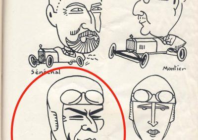 1926 05 06 Les AS du volant, Sénéchal, Montier, Benoist et Seegrave, caricatures par Sil. 1