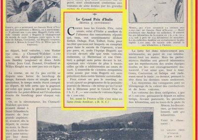 1926 05 09 GP d'Italie 1100cc à Monza, 1er Amilcar C.O. Morel 400 km 3h 00''32 à 133 km-h, Duray 3h 09'26'' de Joncy BNC 3h 16'05''. GP Vitesse 1er Sabipa, 2e Costantini-Bugatti_