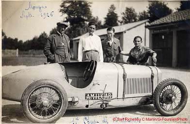 1926 05 09 GP d'Italie 1100cc à Monza, 1er Amilcar C.O. Morel 400 km 3h 00''32 à 133 km-h., Duray 3h 09'26'', de Joncy BNC 3h 16'05''. GP Vitesse 1er Sabipa, 2e Costantini-Bugatti._