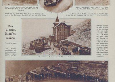 1926 07-08 08 Côte Internationale du Klausen (le Ventoux Suisse) GP de la Montagne 21,5 km. Amilcar 6 cyl. 1100 C.O. 1er Morel en 19'15''. 3