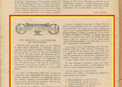 1926 07 10 Critérium des 1100, 1er Duray Amilcar, accident Martin. GP du Salon les 3 Talbot, Divo, Segrave et Moriceau. ab. des 3 Delage et 3 Bugatti. 2
