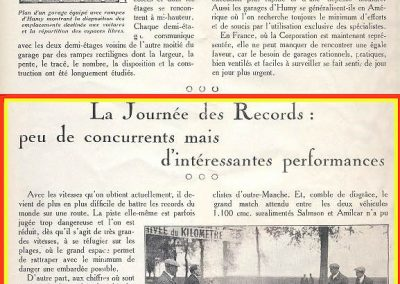 1926 09 05 Records Internationaux Arpajon, Morel, Amilcar C.O. 1100cc, bat le km lancé à 197,422 km-h (200 km-h), le Mile L. à 195 et le km arrêté à 126 avec Martin. 9