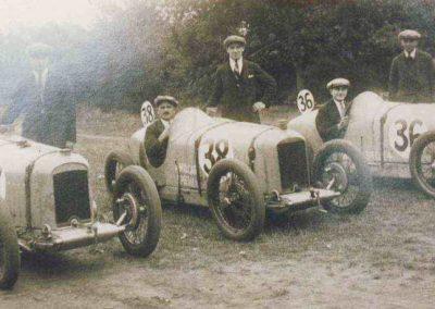 1926 10 09 les 3 C.O. aux 200 Milles de Brooklands, 1er des 1100cc Morel, le 2ème V. Balls et le 3ème Martin. 1