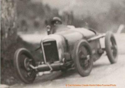 1926 13 03 Côte de la Turbie, 6,6 km, 1er Morel Amilcar C.O. 1100cc, 4'55 à 74,360 km-h. et 5'' devant Chiron-Bugatti 1500cc. 3