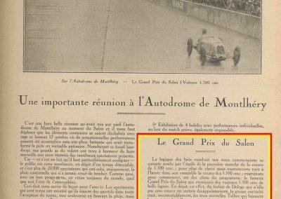 1926 17 10 Critérium des 1100, 1er Duray, Martin, ab Morel. Jeuffrain 3ème. GP du XXème Salon, 1er, Divo, Segrave 2ème et Moriceau 3ème tous sur nouvelles 1500 Talbot. 1_