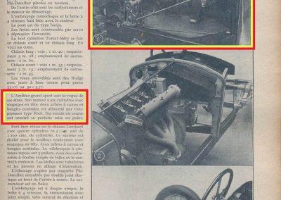 1926 17 10 Salon de l'Automobile (le 20e), Présentation de l'Amilcar 1100cc, C. 6 cylindres Moteur à culasse démontable. 2
